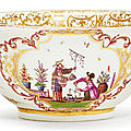 Bowl with chinoiserie decoration, meissen, ca. 1723