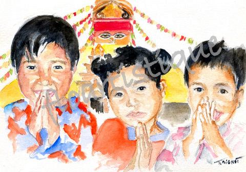 Cartes pour GARUDA, enfants de KATMANDU