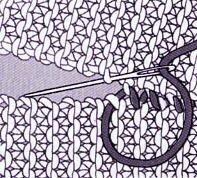 AssemblageTricot couture côtés du point mousse