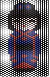 kokeshi bleu grille
