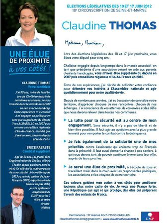 Lettre candidature Claudine Thomas 1