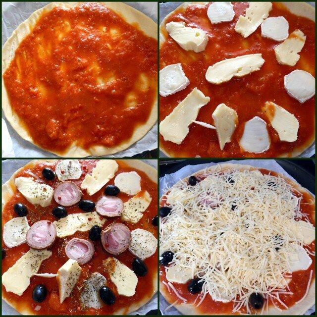 pizza à l'andouille rebochon