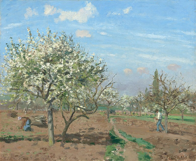800px-Camille_Pissarro,_Le_verger_(The_Orchard),_1872