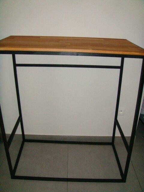 Table Haute Pour Bureau Style Industriel Passe Temps De Nini