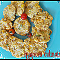 Cookies maïs ,oignon vert