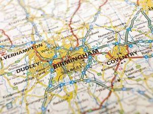 Carte de la région de Birmingham chez Scrat et Gloewen