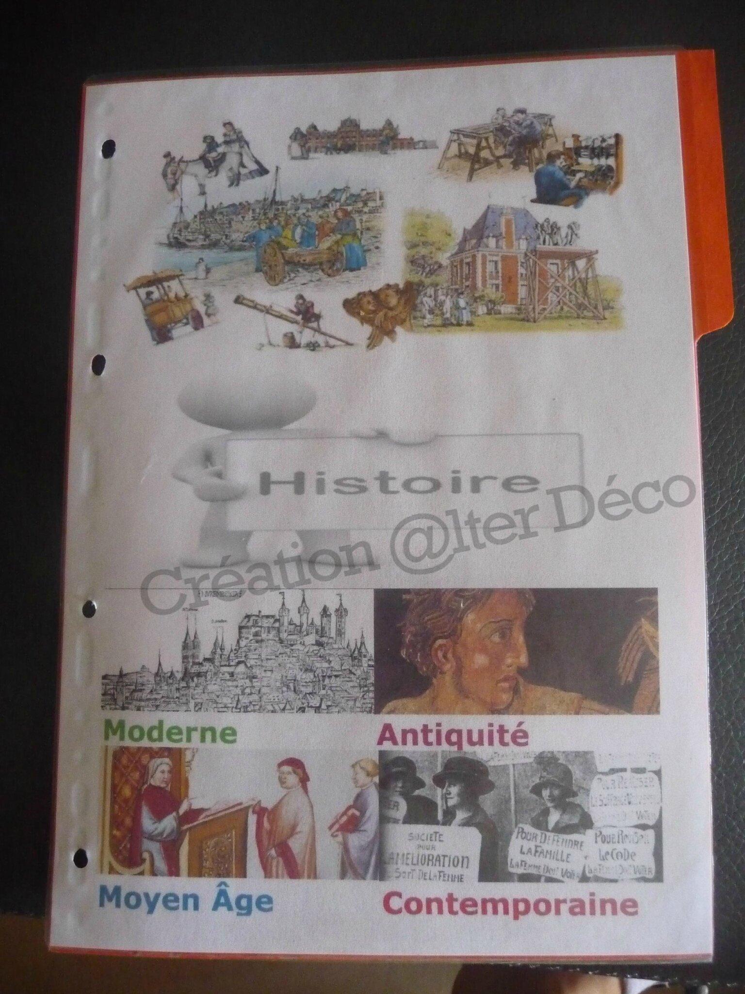 Page de garde Histoire