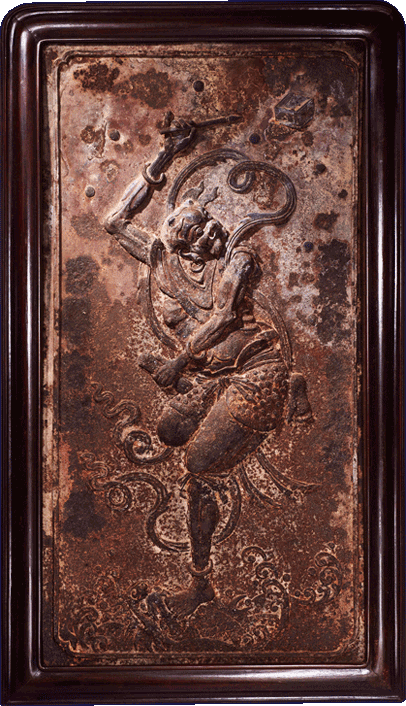 A Large Cast Iron Relief Panel of Kui Xing; China, Ming Dynasty, 16th-17th century