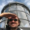 Jénorme au sommet du phare de Biarritz