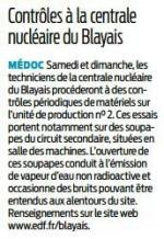 2016 11 11 SO Contrôles à la centrale nucléaire du Blayais