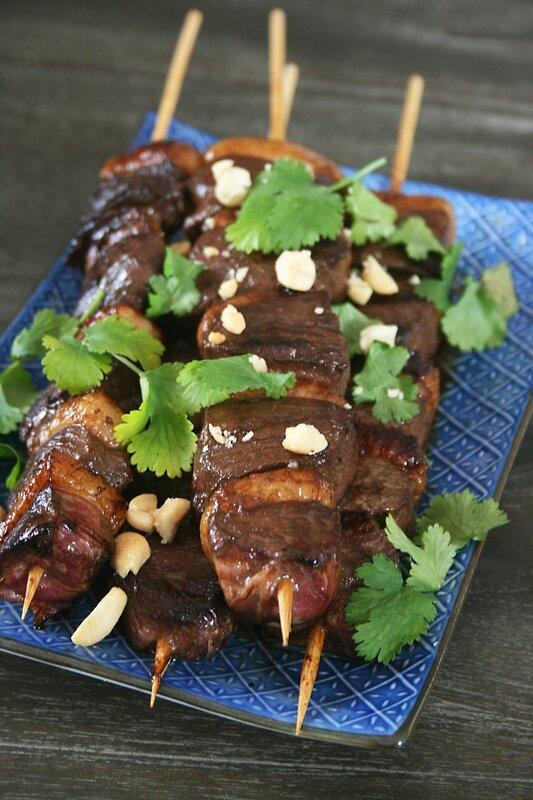Yakitori de canard (magret) Passion culinaire Minouchka