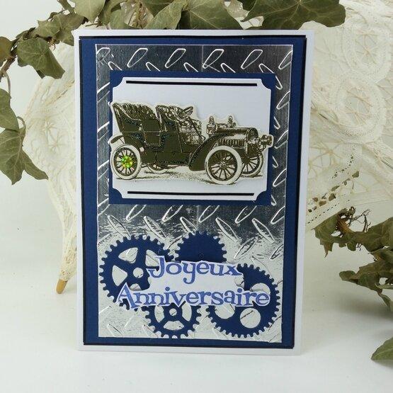 carte-anniversaire-homme-steampunk-voiture-ancienne