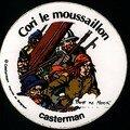 Autocollant Casterman pour la sortie de Cap sur l'or (1982)