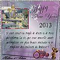 Très belle année 2013 mes ami(e)s,