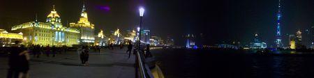 photo du Bund, du Fleuve et de Pudong
