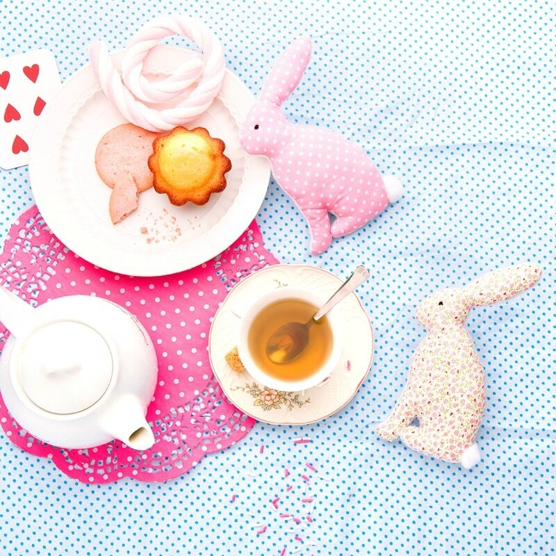 Tea time rabbits