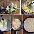 Gâteau de choux, touche de carotte, fromage blanc & parmesan de carole