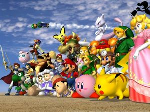 Smash bros photo de groupe