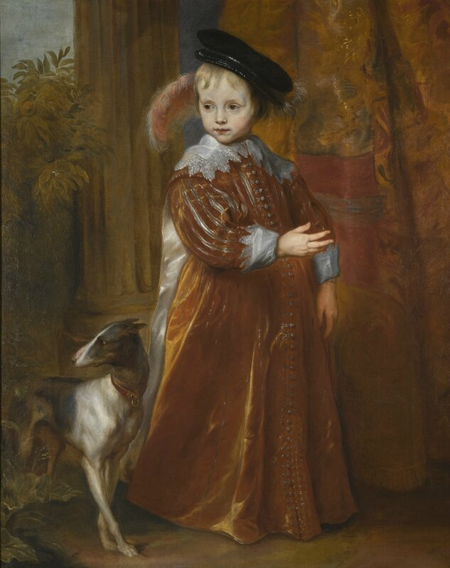 Sir Anthony van Dyck, Portrait of Prince Willem II of Orange as a Young Boy, With A Dog