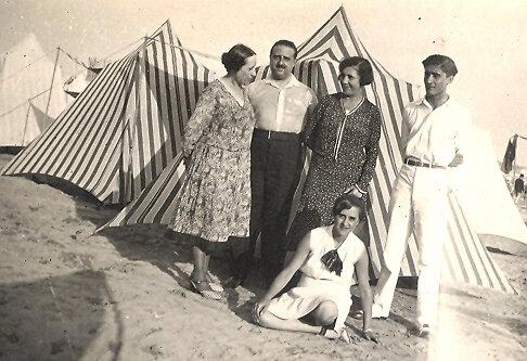 1930 08 31 dimanche Royan Julie Lucien Simone Guy