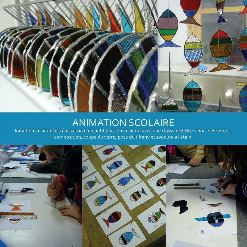 animation scolaire vitrail