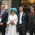 Les mariés et les témoins de Josh