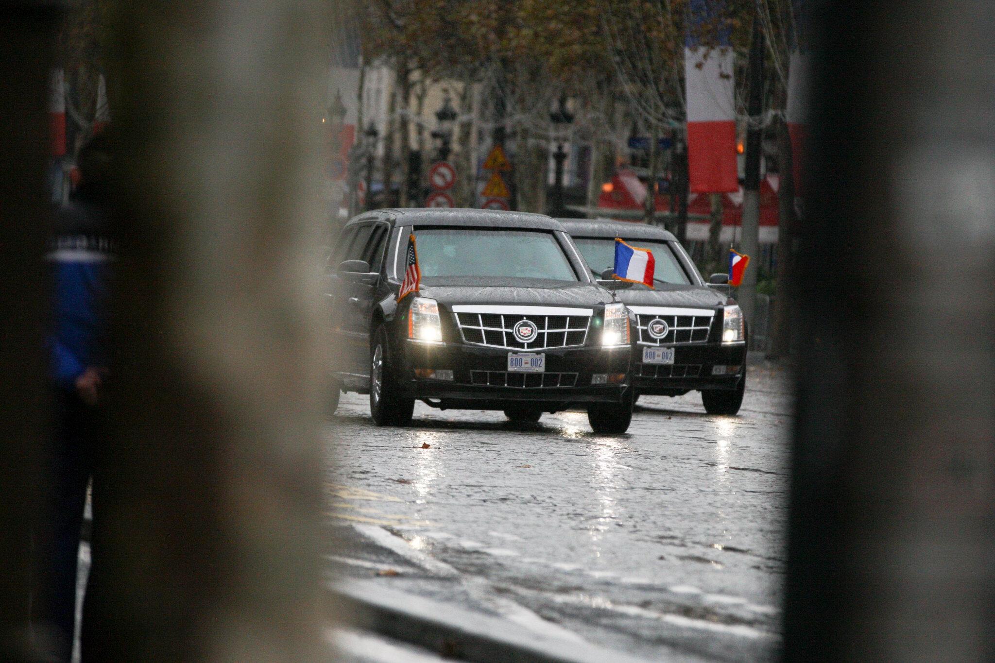 Ce que vous devez savoir sur « The Beast », la limousine de Trump. © Michel Stoupak. Dim 11.11.2018, 10h53m48.