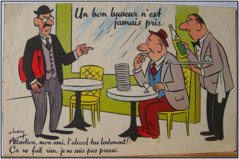 Un bon buveur - datée 1951