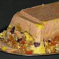 Foie gras aux fruits confits et 5 épices