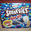 Glaces smarties pop up