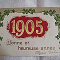 Bonne année 1905