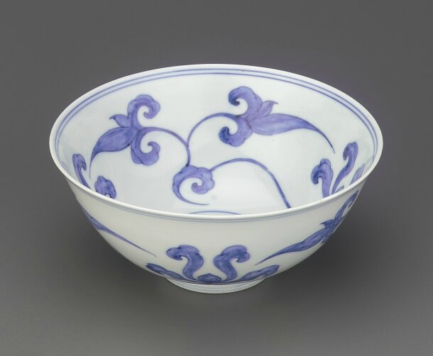 Blue-and-White Lotus Palace Bowl, Chenghua Mark and Period (1465-1487), Ming dynasty (1368 – 1644)