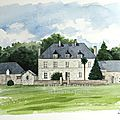 aquarelle maison de Vogüe