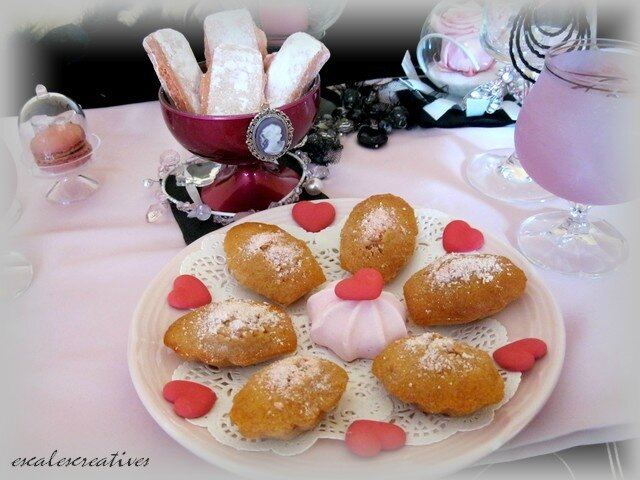 madeleines aux biscuits roses