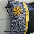 pochette bandoulière style japonais coté