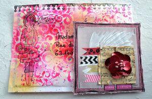 Carte + Enveloppe anniv Poussi - Août 2013