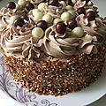 Gâteau crème chantilly mascarpone nutella