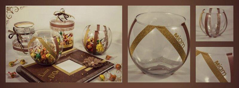 créations mamzelle dragées bocal automne doré