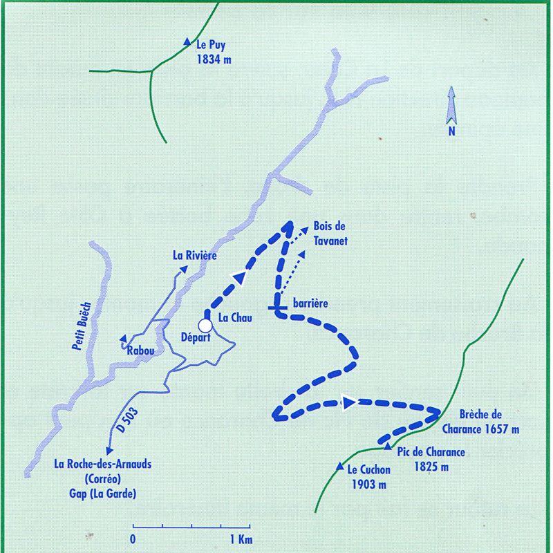 Randonnée de la brèche et du pic de Charance 1825 m Mai 2011