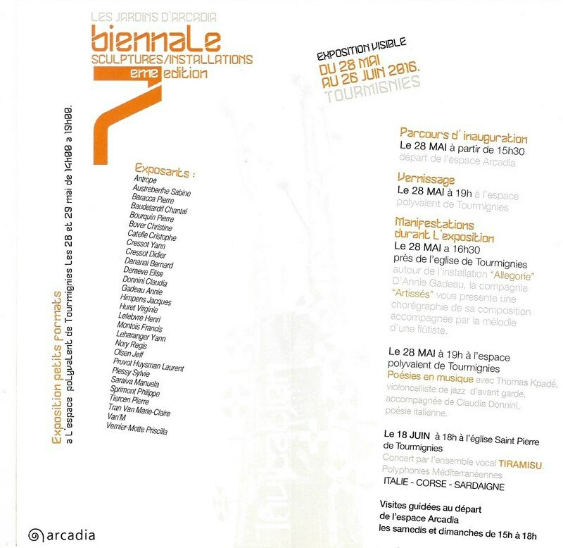 Invitation Biennale 2016 Verso