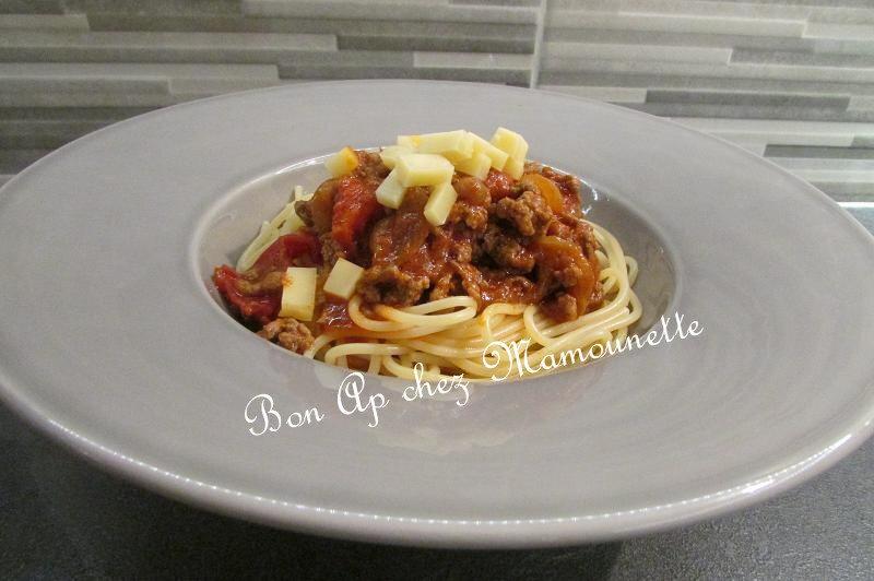 spaghettis bolognaises cookéo 009