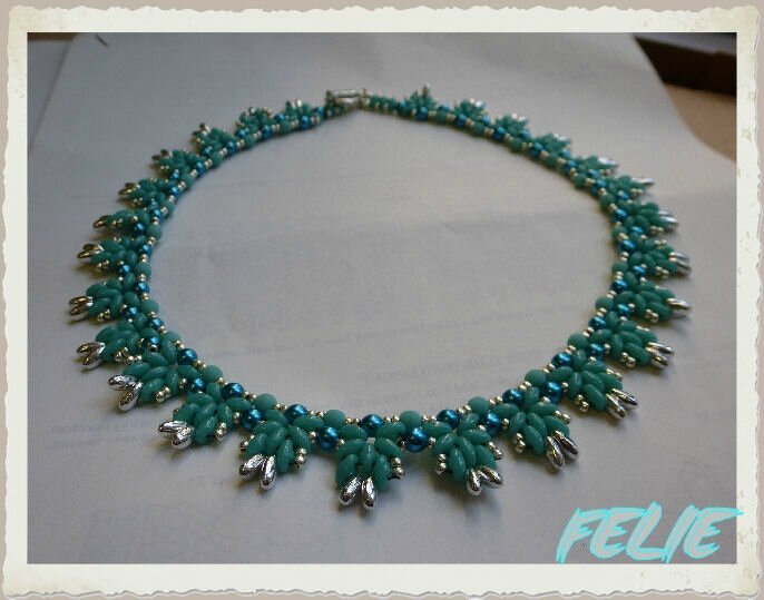 COLLIER BLEU SUPER DUO