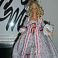 Barbie à l'époque des marquises du 18ème siècles