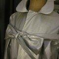 Ciré AGLAE en coton enduit argent fermé par un noeud (4)