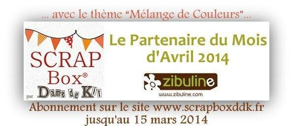 PARTENARIAT AVRIL 2014 ZIBULINE