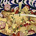 Salade bistrot pommes saucisses fumees