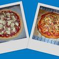 Pizza Mozza-Champignons-Lardons
