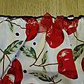 Culotte CHARLOTTE en coton blanc imprimé cerises - taille M (2)