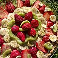 Tarte multi-fruits aux grains de pistaches