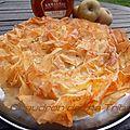 Tourtière landaise aux pommes flambées à l'armagnac (pâte filo)